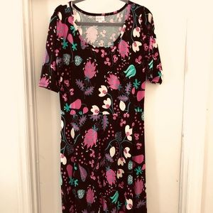 NWOT.  LuLaRoe 'Ana' maxi dress, Sz 2XL